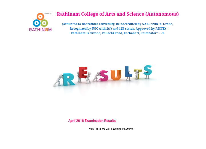 Rathinam College of Arts and Science - End Semester Results